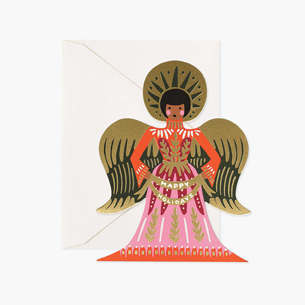 Happy Holidays Angel Card - Pigment
