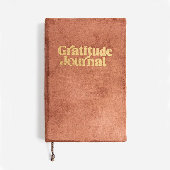 Velvet Gratitude Journal - Rust