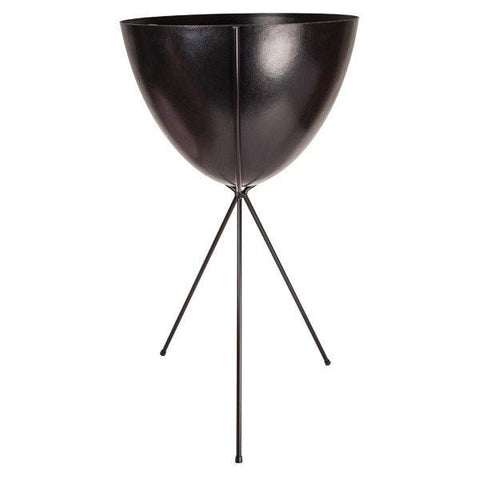 Retro Bullet Planter – Tall Black Stand