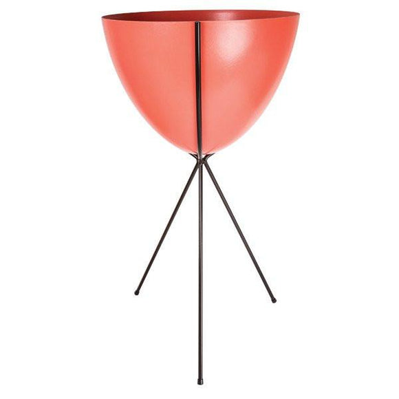 Retro Bullet Planter - Tall Black Stand