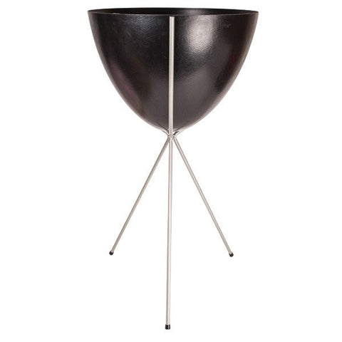 Retro Bullet Planter – Tall Silver Stand