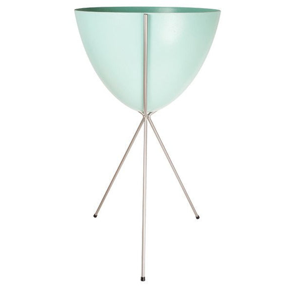 Retro Bullet Planter - Tall Silver Stand