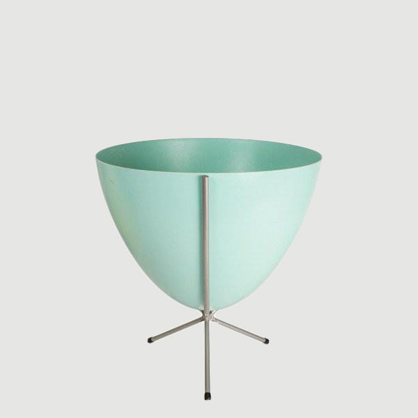 Retro Bullet Planter - Short Silver Stand