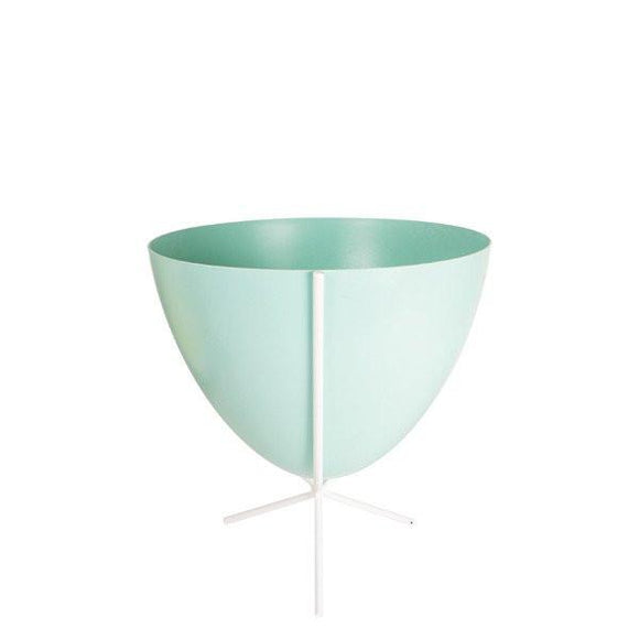 Retro Bullet Planter - Short White Stand