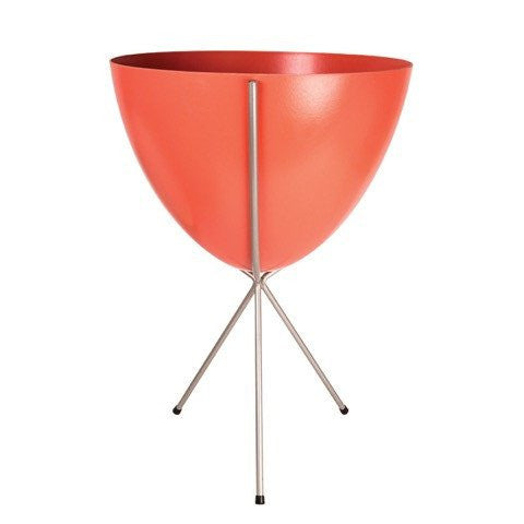Retro Bullet Planter – Medium Silver Stand
