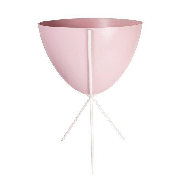 Retro Bullet Planter   Medium With White Stand