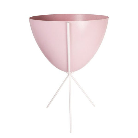 Retro Bullet Planter - Medium with White Stand