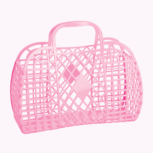 Retro Basket in Bubblegum Pink