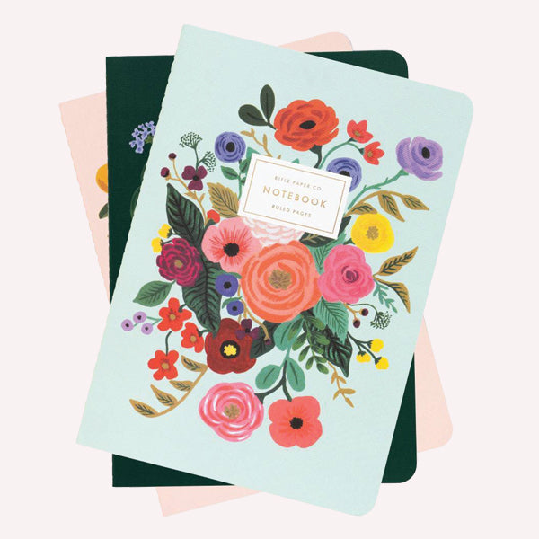Garden Party Notebooks - Set of 3