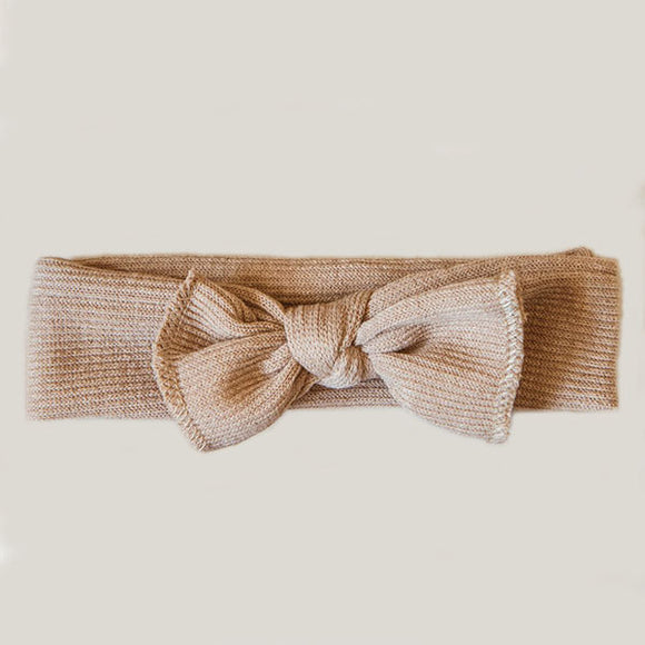 Little Bow Headband - Tan