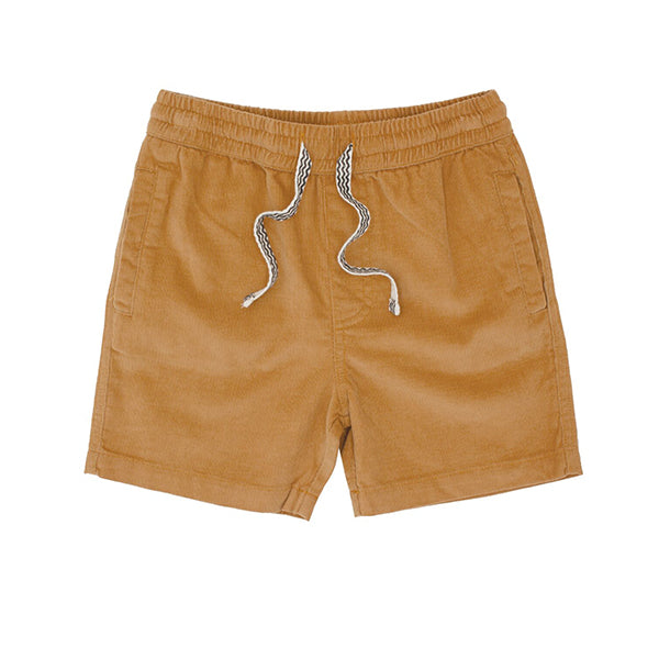 Line Up Pin Corduroy Short - Camel