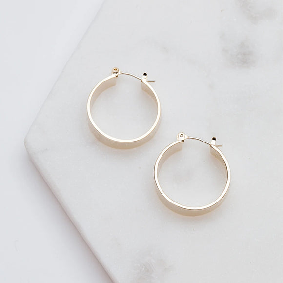 Chloe Hoop Earrings - Pigment