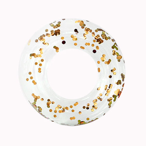Confetti Ring Float - Gold - Pigment