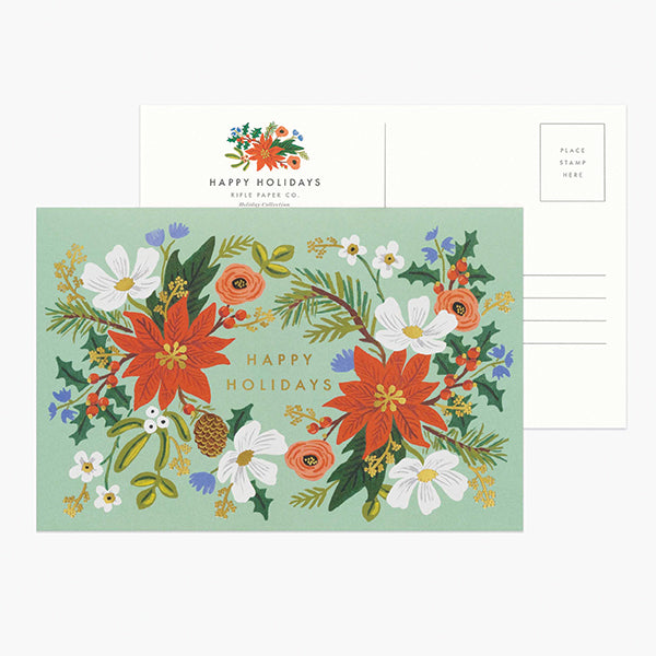 Holiday Floral Postcard - Pigment