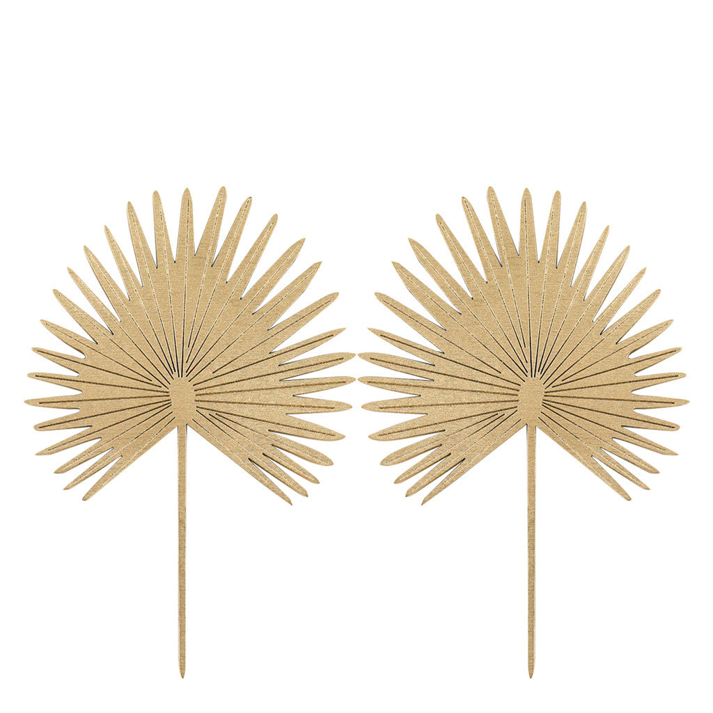 Gold Star Palm Cut-Outs. Wall Art, Home Decor