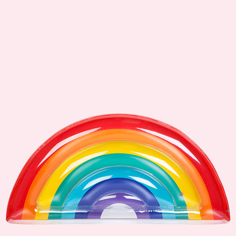 Luxe Lie-On Float in Rainbow, Front View