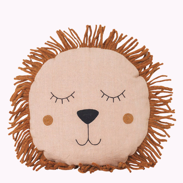 Safari Cushion - Lion - Rose
