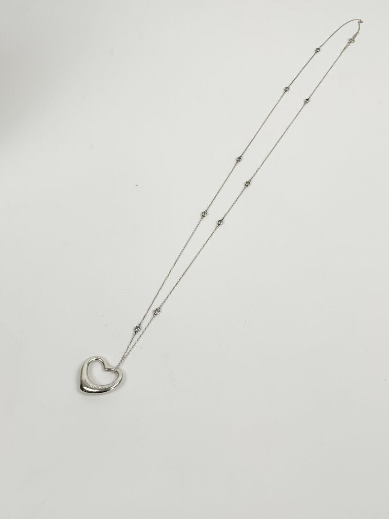 Tiffany & Co Open Heart Diamonds by the Yard Necklace