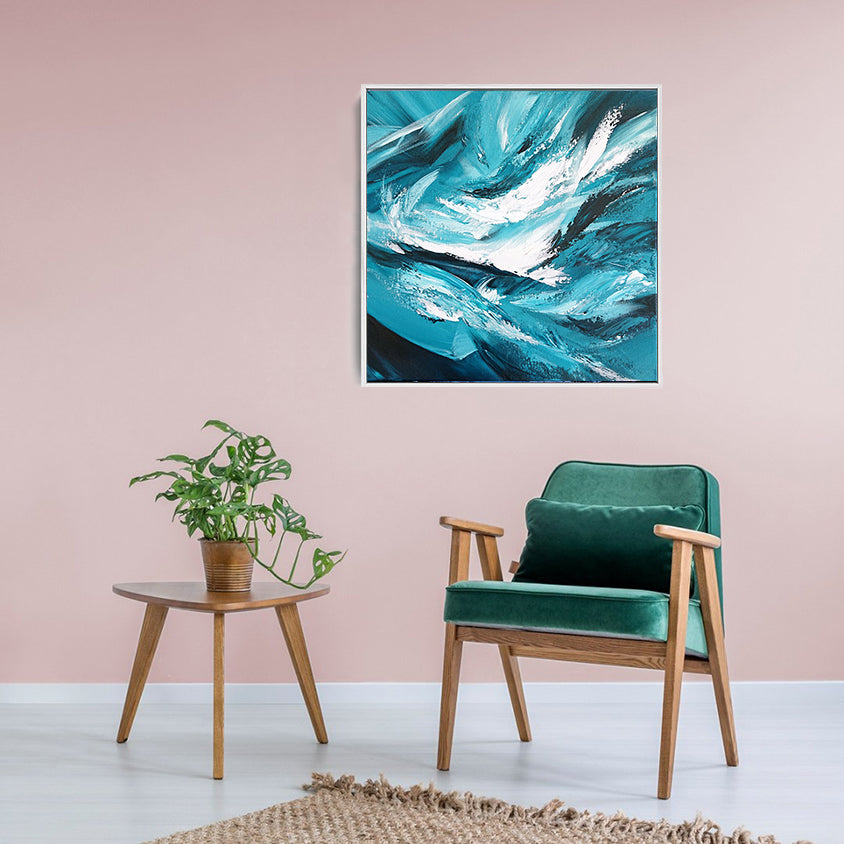 Contemporary abstract painting for the home