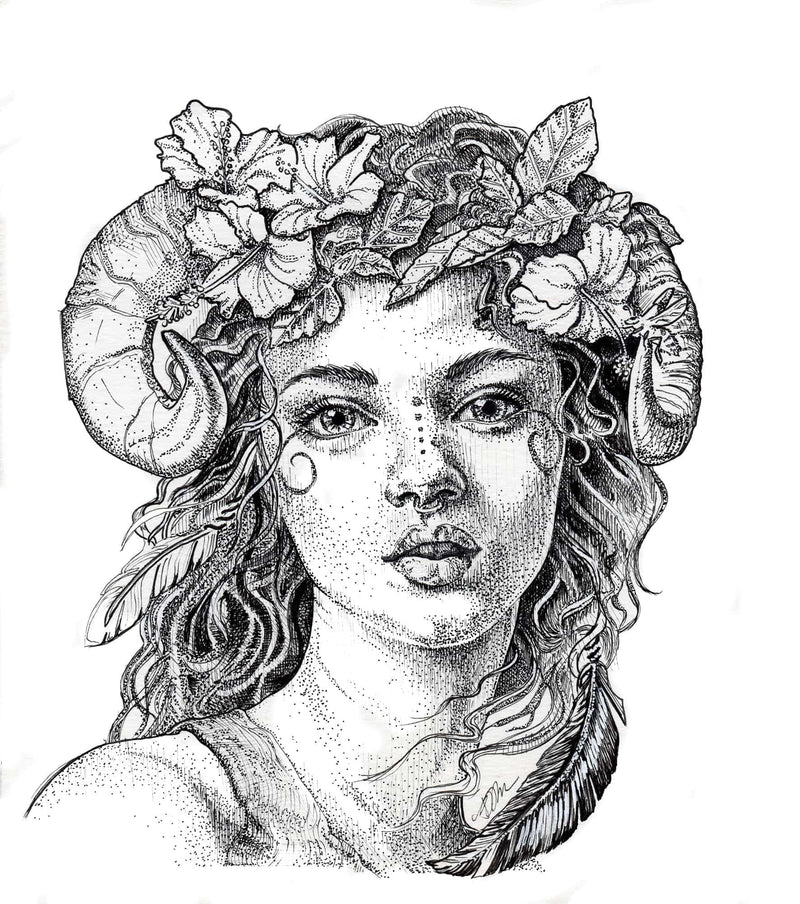 Faun and Flora print - Julie Peterson Shea