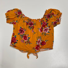 Load image into Gallery viewer, Yellow Floral Short Sleeve // Size Medium