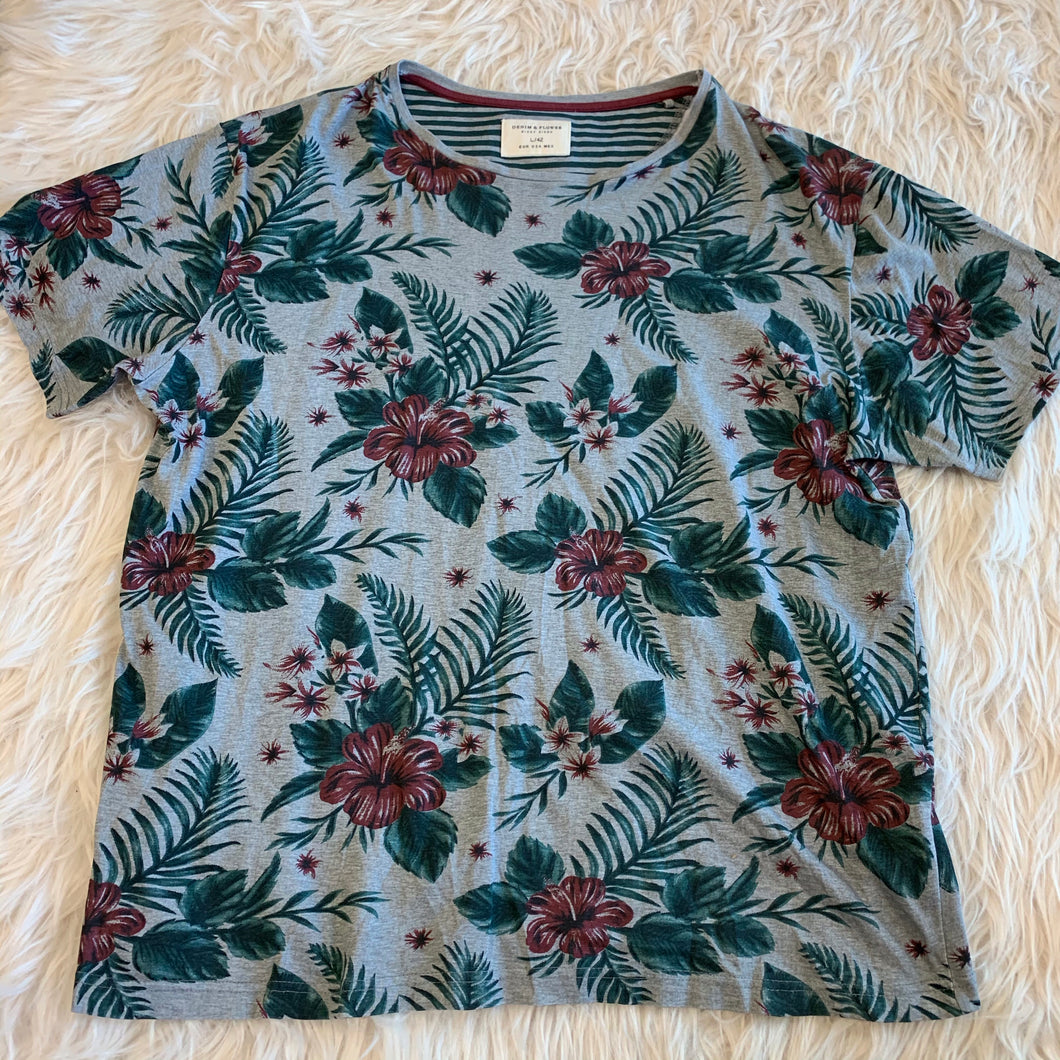 Denim Flower Men's Short Sleeve // Size Large