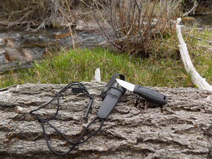 Survival Knife - Mora Eldris Kit - Knife out of Sheath - Wilderness Survival Systems : Picture