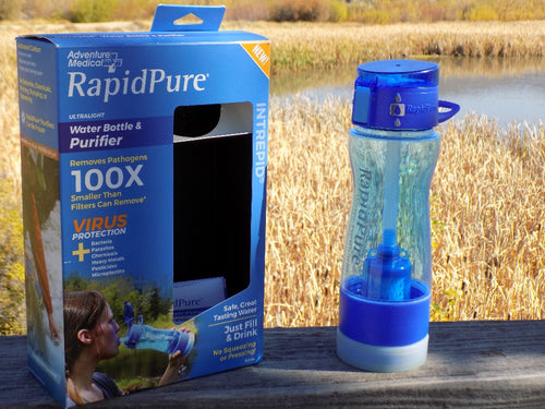 Survival - Intrepid Water Bottle Next to packaging - Wilderness Survival Systems : Picture