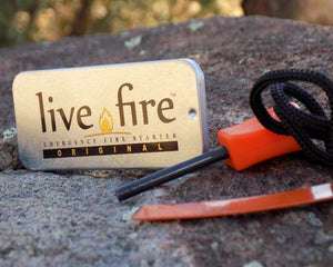 Survival Fire Starter - Live Fire Original - Out of Packaging - Wilderness Survival Systems : Picture
