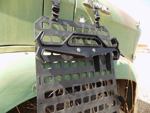 Outdoor Survival Gear - Tough hook mounted to seat back panel next to old truck - Wilderness Survival Systems : Picture