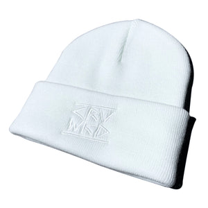 Carve Wicked: EMBROIDERED LOGO BEANIE - White