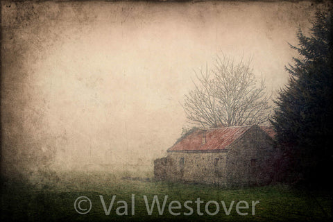 Wall Art - An old Irish homestead in the fog