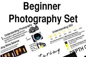 Beginner Photography Book, Workbook and Cheat Sheet Set