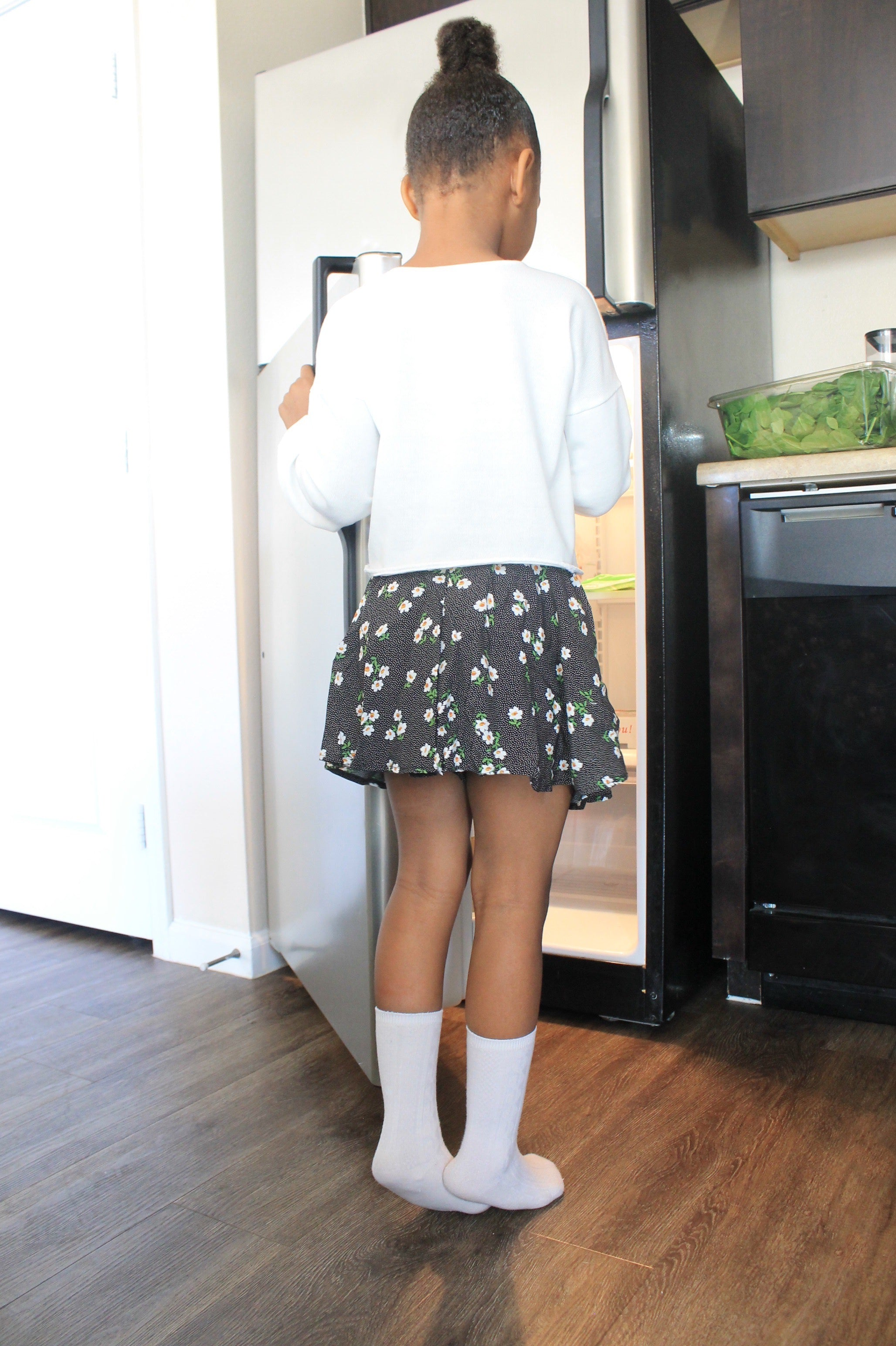 Mini Skort in Evening Daisy
