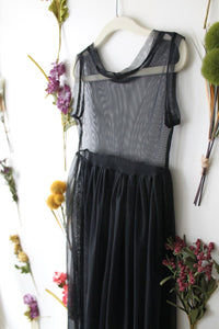 Mesh Maxi Dress in Shadow