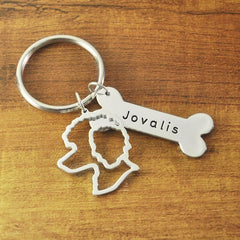 Custom Dog Keychain