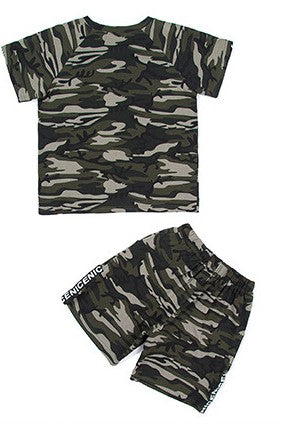 Camo T-Shirt/Shorts Set