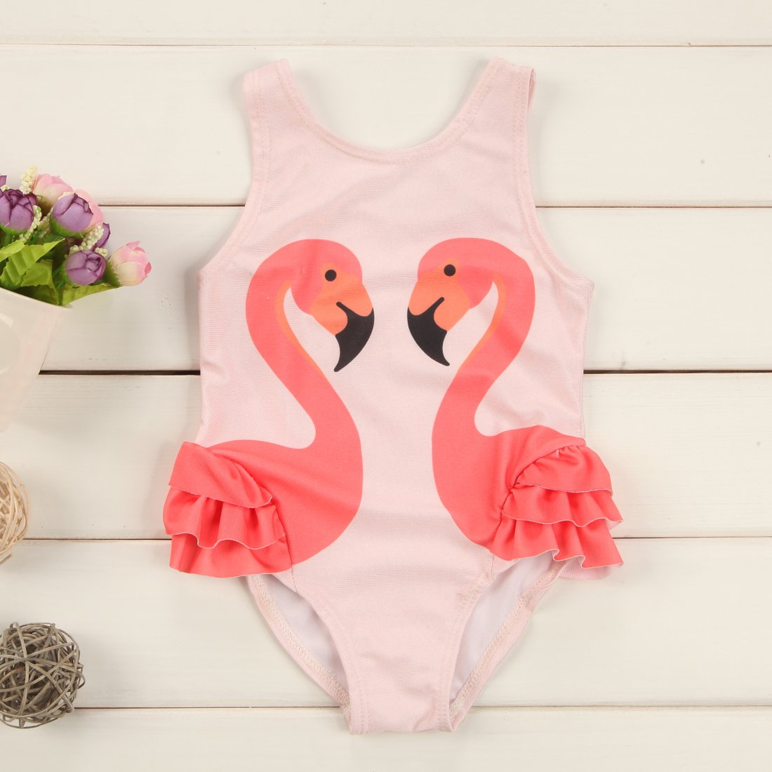 Flamingo Ruffle Swimsuit
