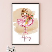 Load image into Gallery viewer, Beautiful Personalised Ballerina Print