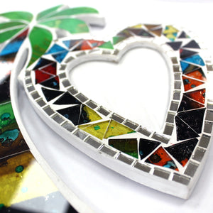 Large Mosaic Coconut Picture Frame