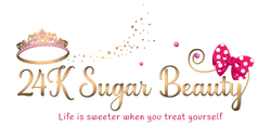 24K Sugar Beauty Logo - with tagline life is sweeter when you treat yourself