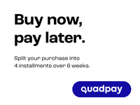 Quadpay promotional image for buy now pay later.