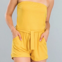 Load image into Gallery viewer, 24K Sugar - Yellow Romper Tub Top  Strapless