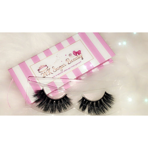 Brown Sugar - 3D Mink Lashes - Pink and White Box - 24K Sugar - Similar to Lily Lashes in Mykonos