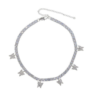 24K Sugar - Iced Bling Butterfly Choker