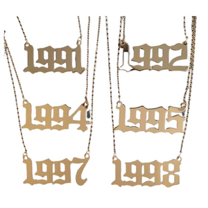 Year Established Gold Plated Necklace - the 90's - 24K Sugar