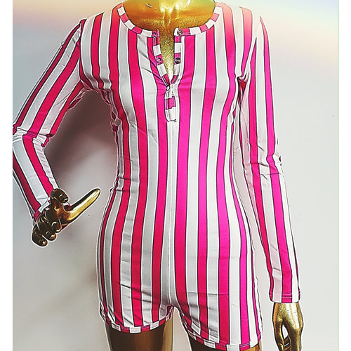 24K Sugar Sleepwear Romper Onesie - Sugar Stripes - 24K Sugar