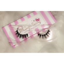 Load image into Gallery viewer, 24K Sugar - Unsweetened 3D Mink Lashes - Pink and White Stripe Box - Very natural lashes