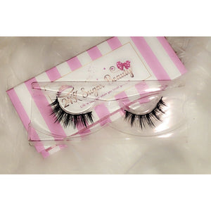 24K Sugar - Unsweetened 3D Mink Lashes - Pink and White Stripe Box - Very natural lashes