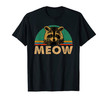 Load image into Gallery viewer, Raccoon Meow T-Shirt Funny Vintage Gifts Shirt For Lovers